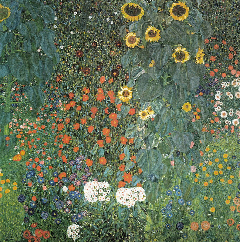"""Gustav Klimt's """"Bauerngarten mit Sonnenblumen"""""""