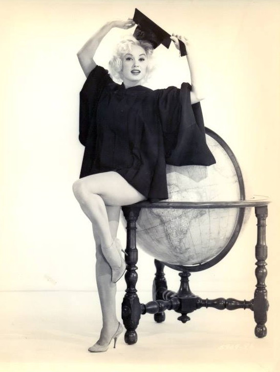 "Mamie Van Doren in a promo shot for ""Sex Kittens Go To College"""