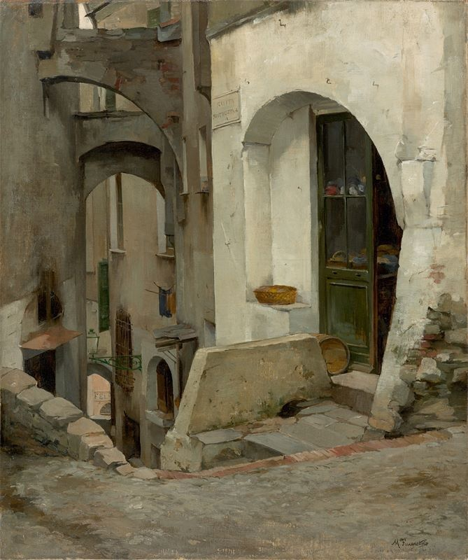 Painting by Martin Feuerstein, 1883