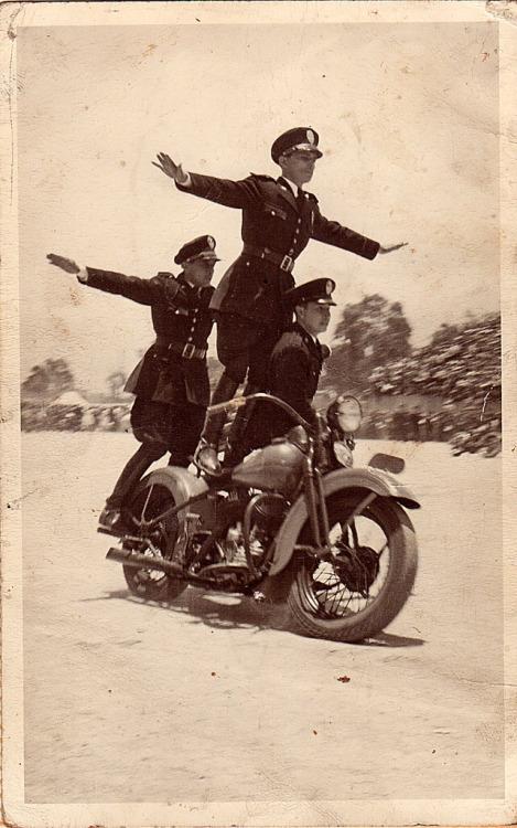 Nazi Motorcycle StuntTeam