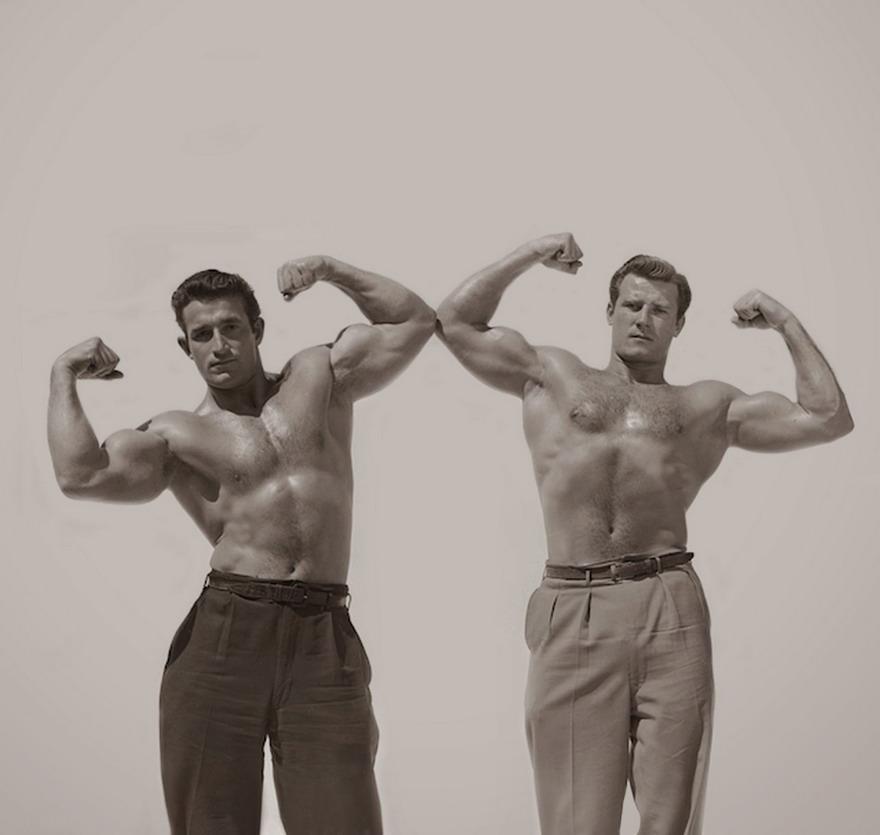 Vintage shirtless musclemen