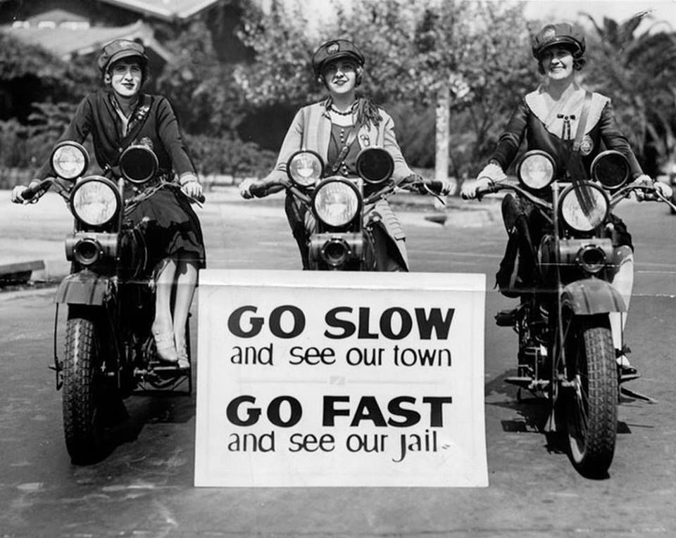 Female traffic cops, Los Angeles, 1920s