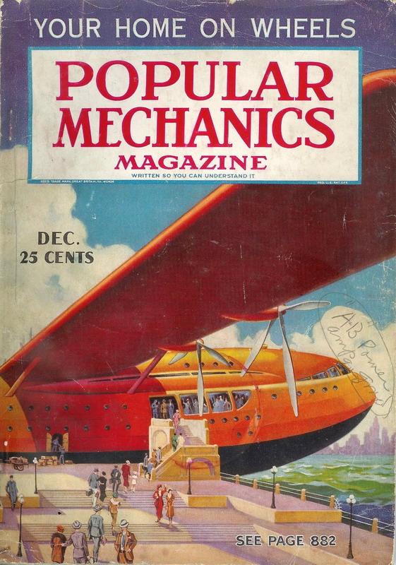 Vintage future jumboplane