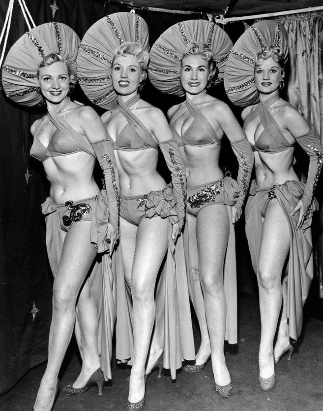 Showgirls, circa 1950