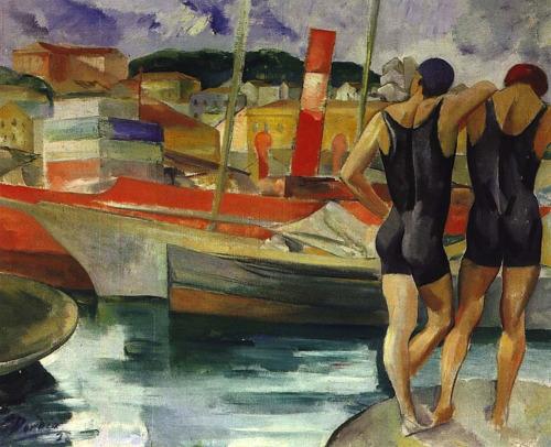 """Simao Dordio Gomes """"Bathers"""", 1928"""