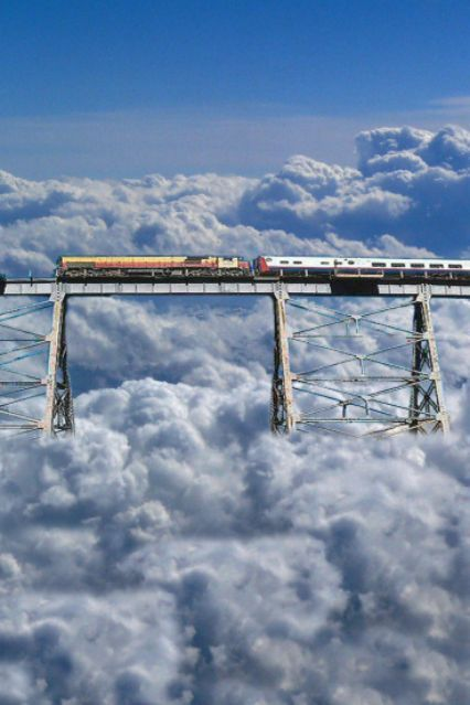 Train through the clouds, Argentina