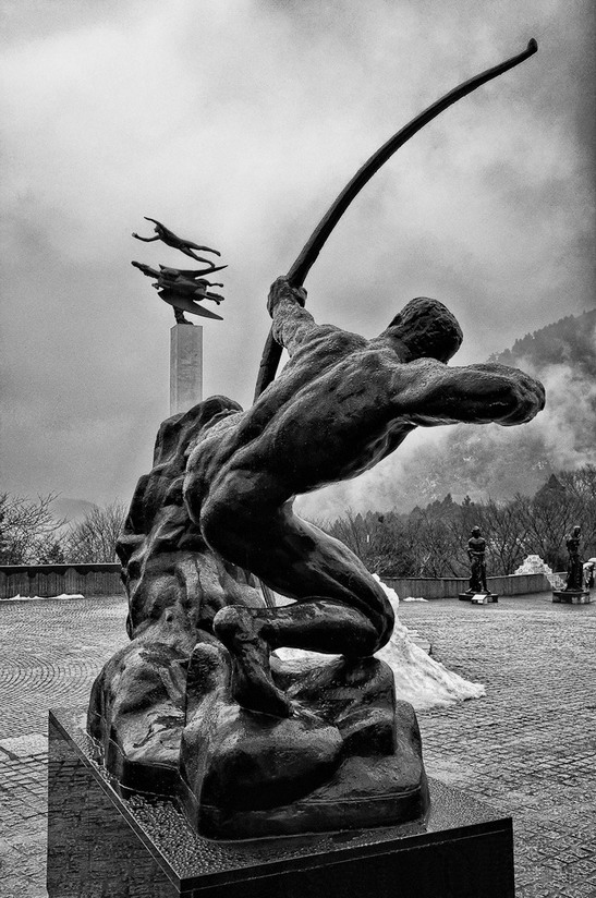 """Antoine Bourdelle's """"Hercules the Archer"""", 1909, at Hakone Open Air Museum, Japan (photo by MurrayFoote)"""