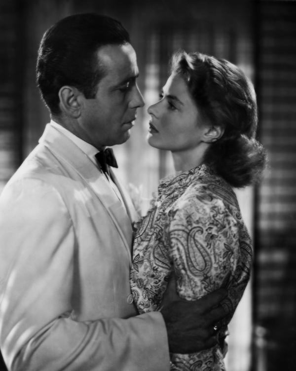 "Humphrey Bogart and Ingrid Bergman in ""Casablanca"""