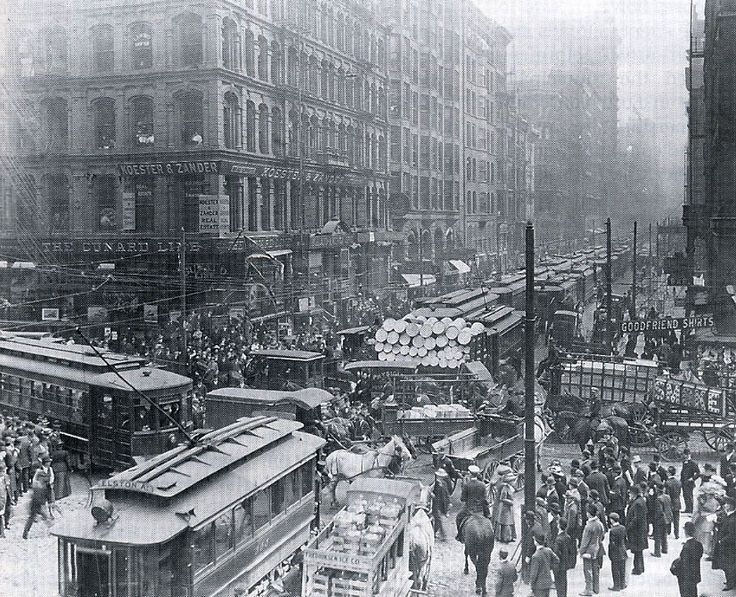 Traffic Jam, Chicago, 1909
