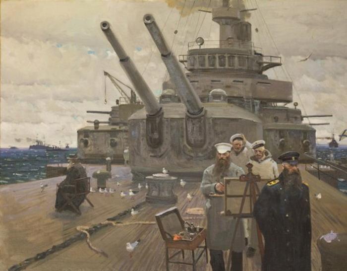 """Faith, Tsar and Fatherland"" by Pavel Viktorovich Ryzhenko,1905"