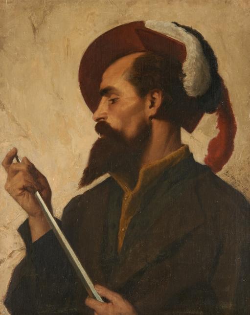 Painting by Belgian Artisit Edouard Agneessens,1800s