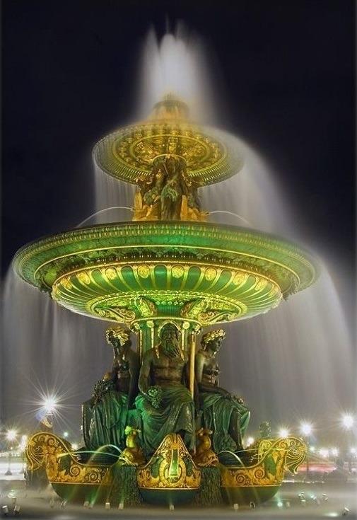 Fountain, Place de la Concorde,Paris
