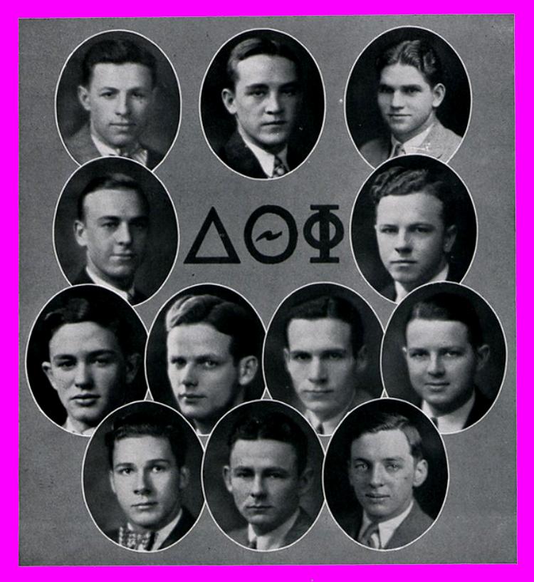 Fraternity photo, 1920s