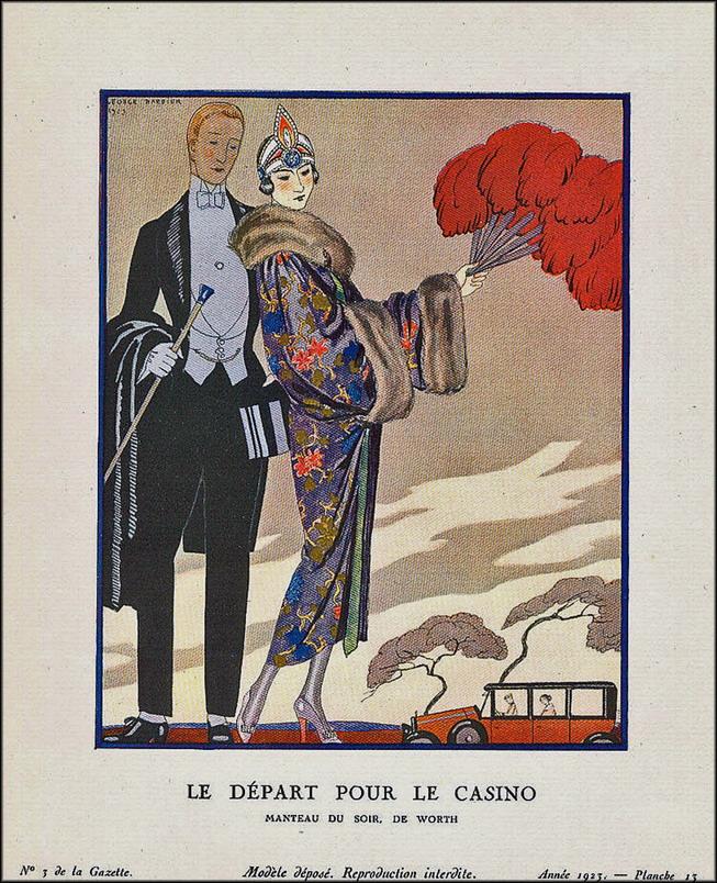 Le Depart Pour le Casino, Georges Barbier,1923