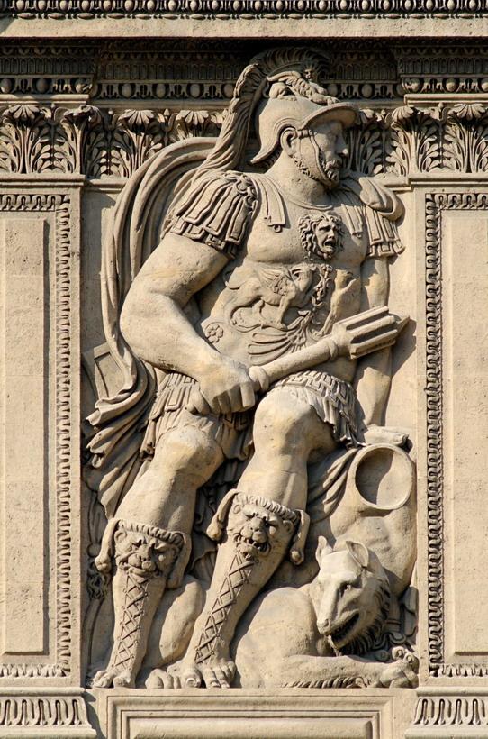 Henri II, exterior of the Louvre,Paris