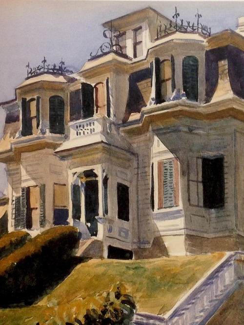 "Detail from Edward Hopper's ""Haskell House in Gloucester, Massachusetts"""