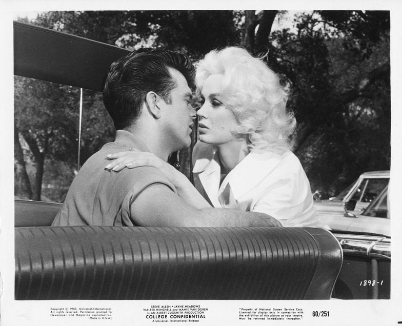 "Mamie Van Doren and Conway Twitty in ""College Confidential"", 1960"