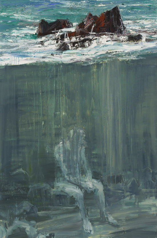 """Seated Figure Beneath The Rocks"" by Euan MacLeod, New Zealand,2012"