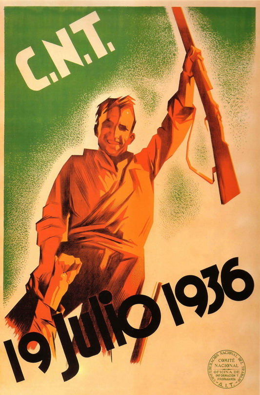 Communist/Trade Union poster from the Spanish Civil War, 1930s