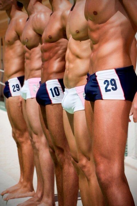 Men in swimwear