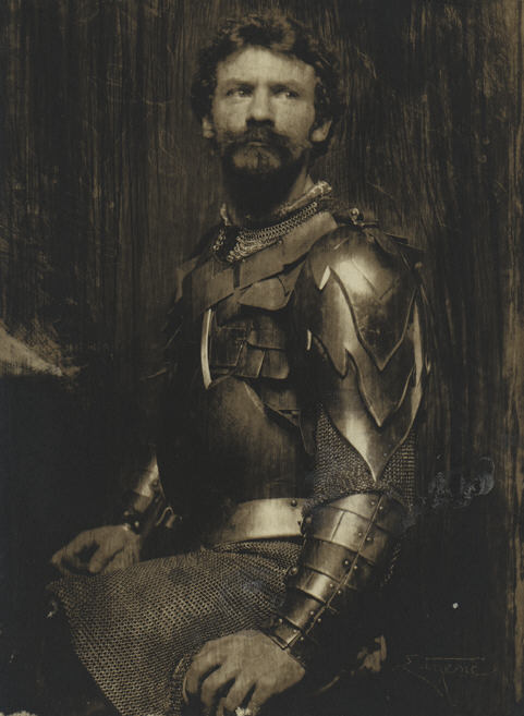 """""""The Man in Armor [Self-Portrait in Armor]"""" by Frank Eugene,1898"""