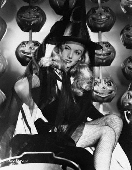 Veronica Lake as a witch