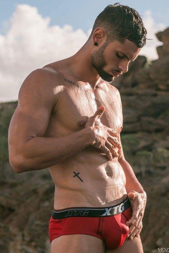 Wet underwear model