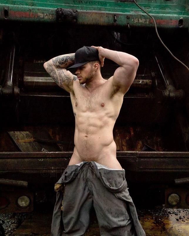 Shirtless Worker