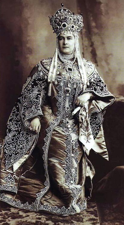 Grand Duchess Maria Pavlovna at the famous Costume Ball in the Winter Palace in February 1903