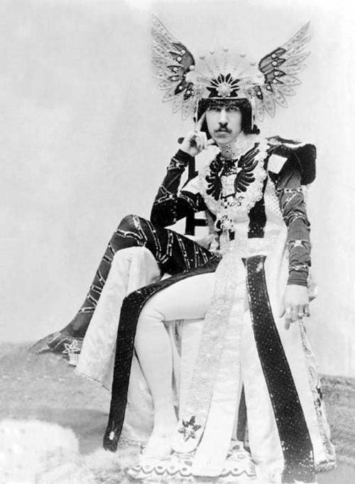 Henry Cyril Paget, the 5th Marquess of Anglesey, dressed up for a costume ball, circa 1900