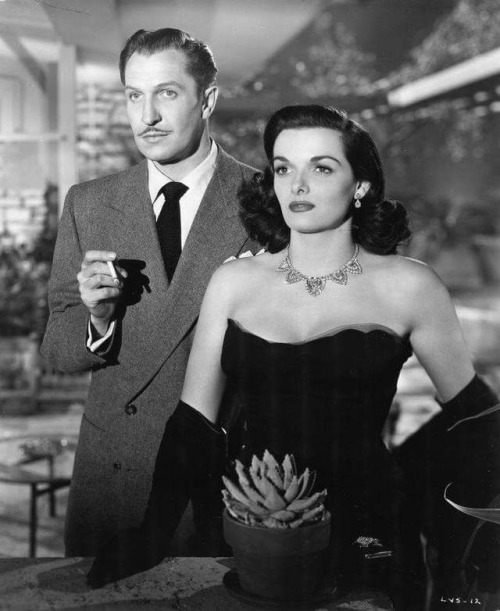 "Vincent Price and Jane Russell in ""The Las Vegas Story"""