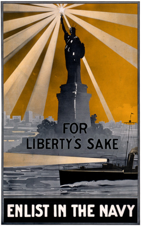 US Navy recruitment poster,WWI