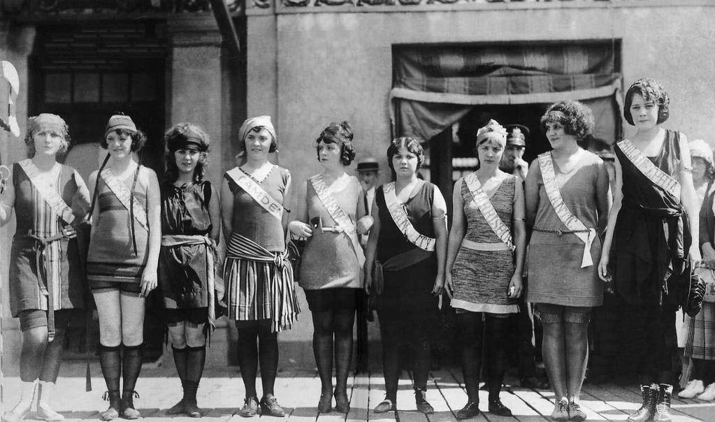 Miss New Jersey Pageant, Swimsuit Competition, 1920s
