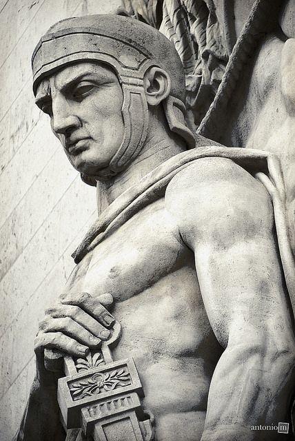 Statue detail, Arc de Triomphe,Paris