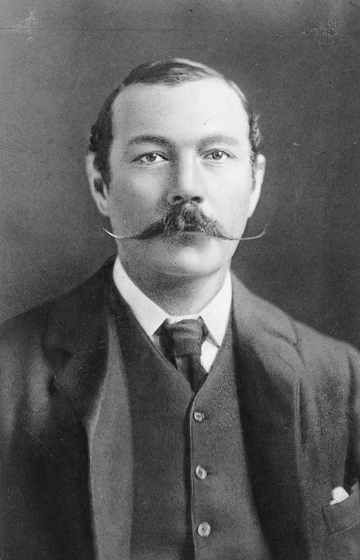 Sir Arthur Conan Doyle (Sherlock Holmes author) and his impressive rat tailmoustache