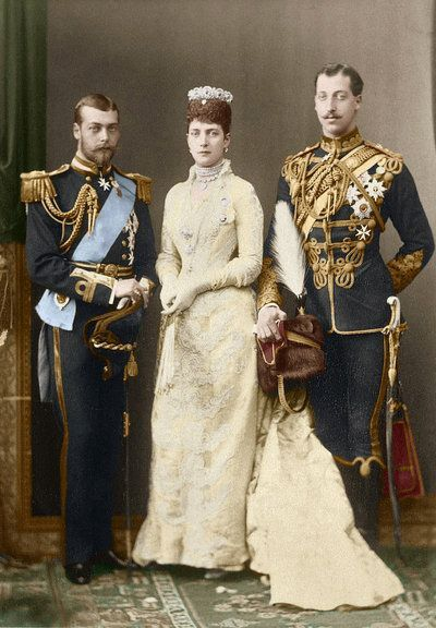 Princes George and Victor Albert with their mother, QueenAlexandra