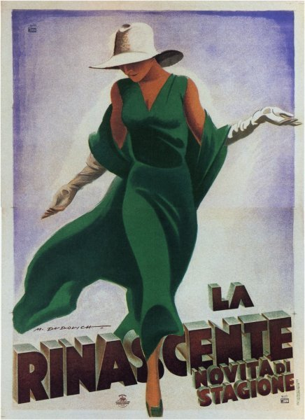 Italian fashion illustration,1930s