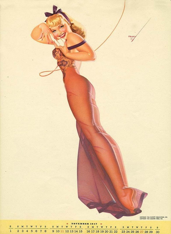 Petty pinup on the phone,1940s
