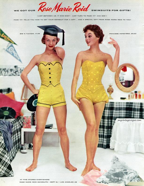 Rose Marie Reid swimwear,1950s
