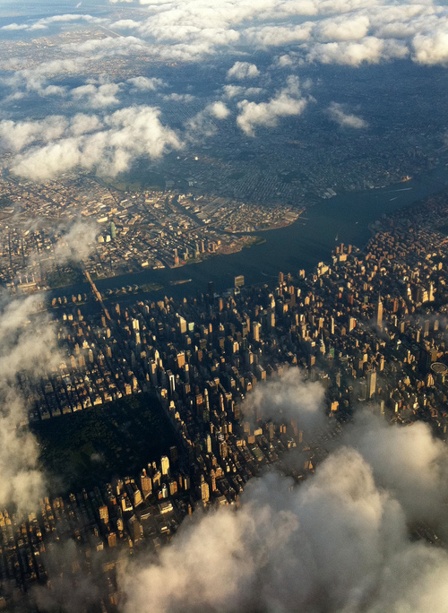 NYC from up in theclouds
