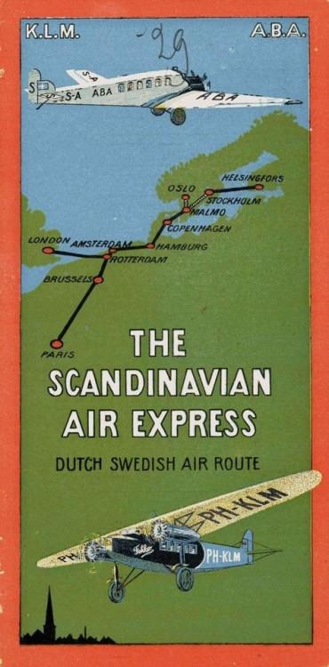 KLM-ABA Scandinavian Air Express,1920s
