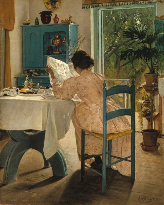 """The Painter's Wife At Breakfast"" by Sigrid Kähler, 1898"
