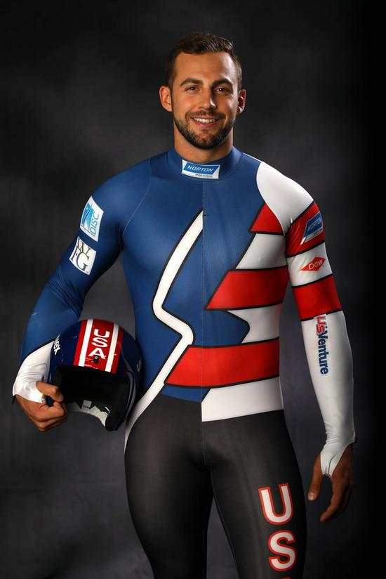 Chris Mazder, USA, silver medalist in men's singleluge