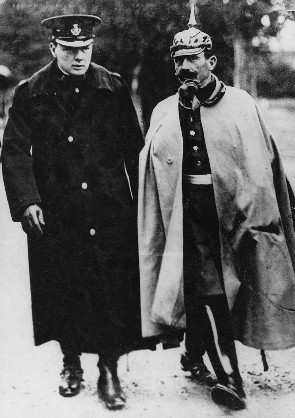 Young Winston Churchill and Kaiser Wilhelm II,1909
