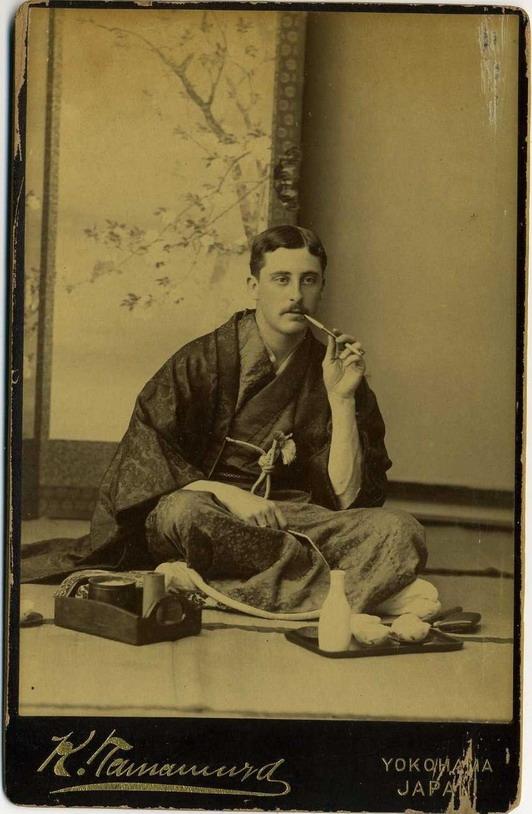 Mustachioed man in Japan,1800s