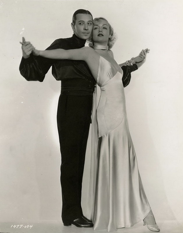 "George Raft and Carole Lombard in a publicity photo for ""Bolero"""
