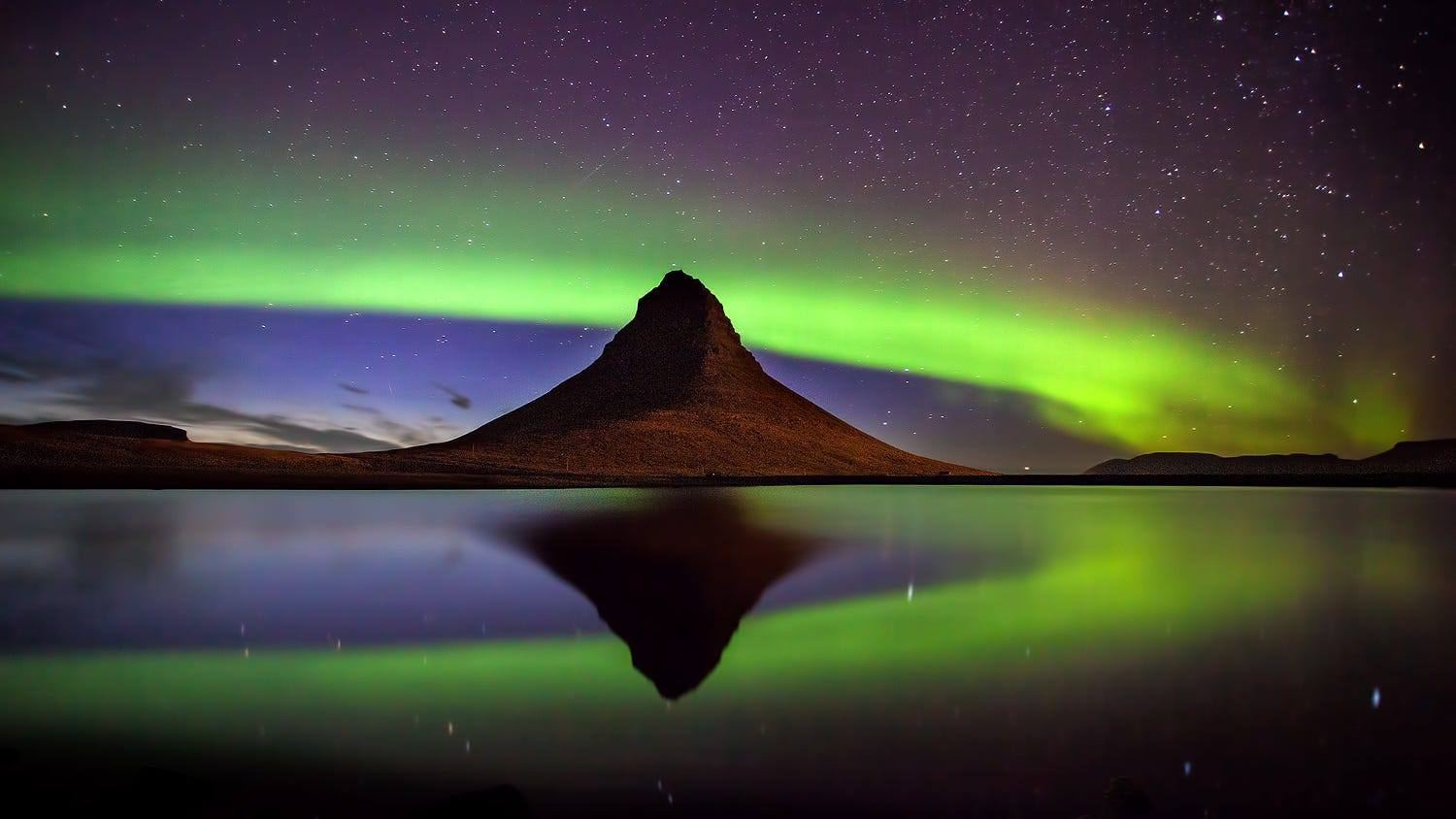 Iceland, with Aurora (huge picture, worth a click)