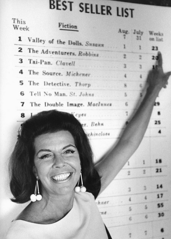 "Jacqueline Susann, best selling author of ""Valley of the Dolls"""
