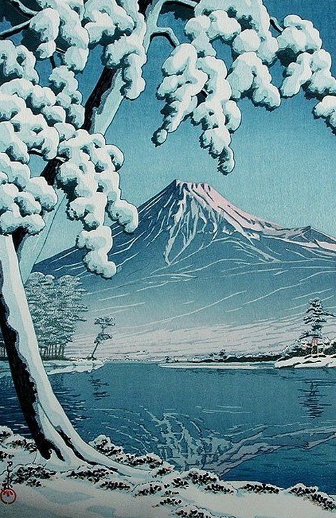 Japanese Art: Mount Fuji inWinter