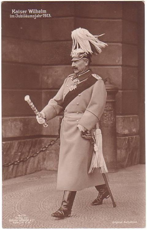 Kaiser Wilhelm II, with what looks like a mop on hishead